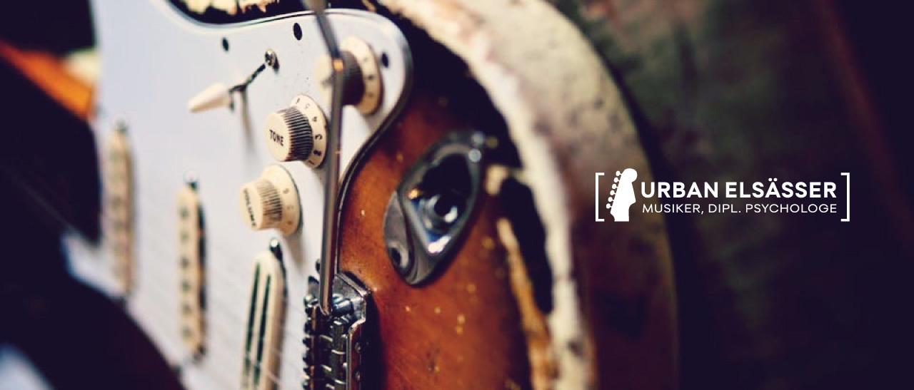 Urban Elsaesser, Musiker, Dipl. Psychologe, Header, Stratocaster